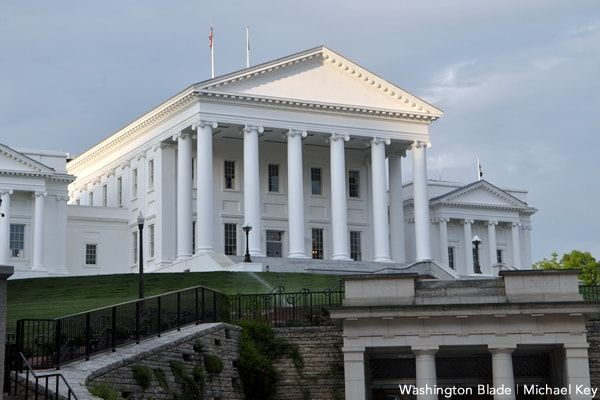 Opponents same-sex marriage. Virginia Senate eliminate a law that discriminate for believing only in marriage between a man and a woman
